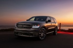 Picture of a 2014 Dodge Durango R/T in Maximum Steel Metallic Clearcoat from a front left three-quarter perspective