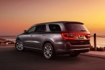 Picture of a 2014 Dodge Durango R/T in Maximum Steel Metallic Clearcoat from a rear left three-quarter perspective
