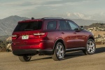 Picture of a 2016 Dodge Durango Limited AWD in Deep Cherry Red Crystal Pearlcoat from a rear right three-quarter perspective
