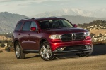Picture of a 2016 Dodge Durango Limited AWD in Deep Cherry Red Crystal Pearlcoat from a front right three-quarter perspective