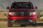 Picture of a 2016 Dodge Durango Limited AWD in Deep Cherry Red Crystal Pearlcoat from a frontal perspective
