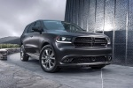 Picture of a 2016 Dodge Durango R/T in Maximum Steel Metallic Clearcoat from a front right perspective