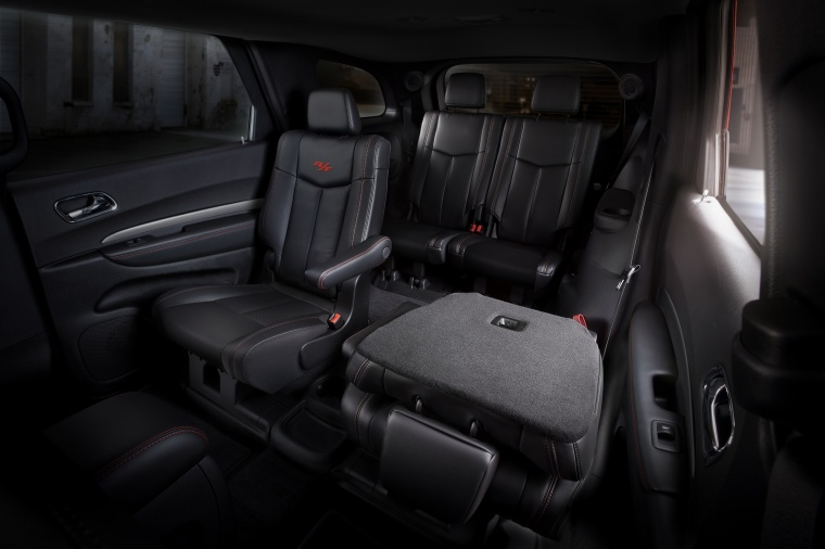 2017 Dodge Durango Rear Captain's Chairs Folded Picture