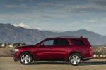 Picture of a 2017 Dodge Durango GT AWD in Deep Cherry Red Crystal Pearlcoat from a left side perspective