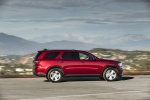 Picture of a driving 2017 Dodge Durango GT AWD in Deep Cherry Red Crystal Pearlcoat from a right side perspective