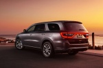Picture of a 2017 Dodge Durango R/T in Maximum Steel Metallic Clearcoat from a rear left three-quarter perspective
