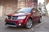 2018 Dodge Journey in Redline 2 Coat Pearl from a front left view