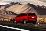 Picture of a 2019 Dodge Journey in Redline 2 Coat Pearl from a rear left three-quarter perspective