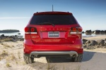 Picture of a 2019 Dodge Journey Crossroad AWD in Redline 2 Coat Pearl from a rear perspective