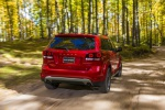 Picture of a 2019 Dodge Journey Crossroad AWD in Redline 2 Coat Pearl from a rear right perspective