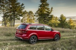 Picture of a 2019 Dodge Journey Crossroad AWD in Redline 2 Coat Pearl from a rear right three-quarter perspective