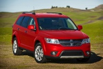 Picture of a 2019 Dodge Journey Crossroad AWD in Redline 2 Coat Pearl from a front right perspective