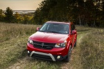Picture of a 2019 Dodge Journey Crossroad AWD in Redline 2 Coat Pearl from a front left perspective