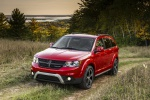 Picture of a 2019 Dodge Journey Crossroad AWD in Redline 2 Coat Pearl from a front left three-quarter perspective