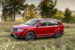 Picture of a 2019 Dodge Journey Crossroad AWD in Redline 2 Coat Pearl from a side perspective