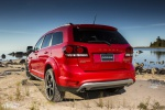 Picture of a 2019 Dodge Journey Crossroad AWD in Redline 2 Coat Pearl from a rear left perspective
