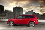 Picture of a 2019 Dodge Journey in Redline 2 Coat Pearl from a left side perspective