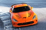 2017 Dodge Viper SRT Time Attack in Yorange Clear Coat - Driving Frontal Top View