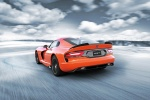 2017 Dodge Viper SRT Time Attack in Yorange Clear Coat - Driving Rear Left View