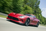 2017 Dodge Viper GTC in Adrenaline Red - Driving Front Left Three-quarter View