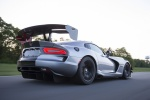 2017 Dodge Viper ACR in Billet Silver Metallic Clearcoar - Driving Rear Rightthree-quarter View