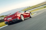 2013 Ferrari F12berlinetta in Rosso Scuderia - Driving Rear Right Three-quarter View