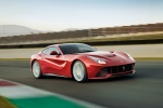 2013 Ferrari F12berlinetta in Rosso Scuderia - Driving Front Right Three-quarter View