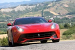 2013 Ferrari F12berlinetta in Rosso Scuderia - Driving Frontal View