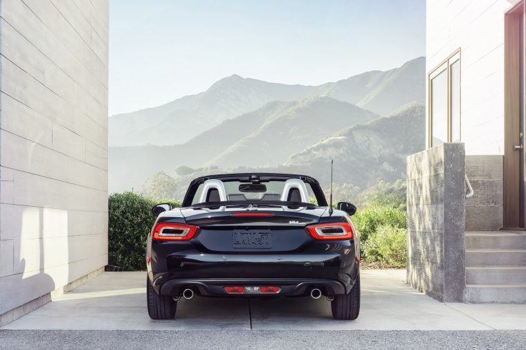 2017 Fiat 124 Spider in Nero Cinema Jet Black from a rear view