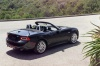 2017 Fiat 124 Spider in Nero Cinema Jet Black from a rear right three-quarter view
