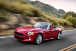 2017 Fiat 124 Spider in Rosso Red - Driving Front Left Three-quarter View