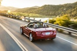 2017 Fiat 124 Spider in Rosso Red - Driving Rear Left View