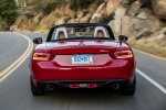 2017 Fiat 124 Spider in Rosso Red - Driving Rear View
