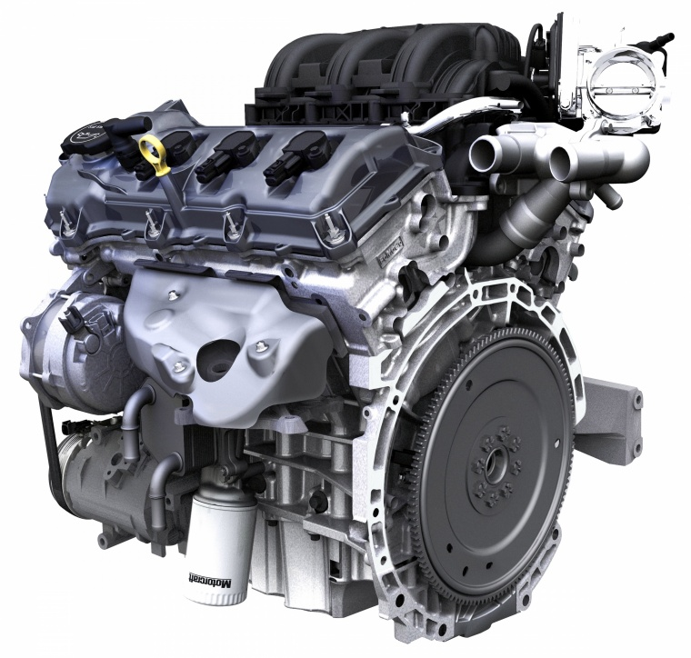 2010 Ford Edge 3.5-liter V6 Engine Picture