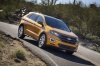 Driving 2017 Ford Edge Sport from a front right view