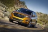 Driving 2017 Ford Edge Sport from a front left view