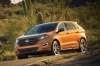 Driving 2017 Ford Edge Sport from a front left three-quarter view