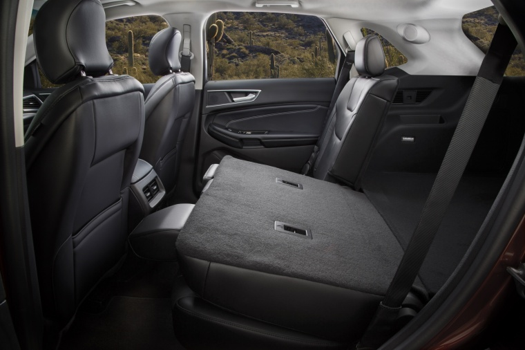 2018 Ford Edge Titanium Rear Seats Folded Picture