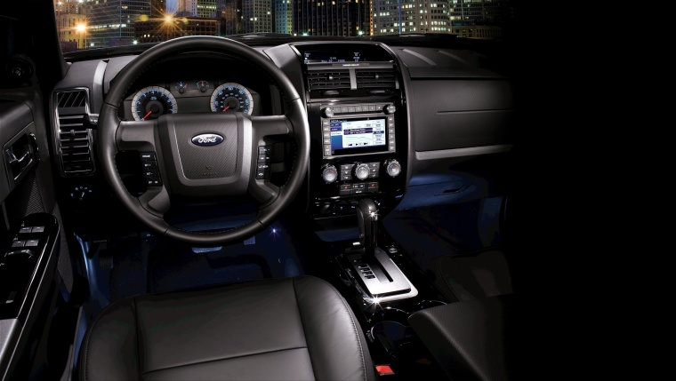 2011 Ford Escape Cockpit In Charcoal Black Color Picture Image