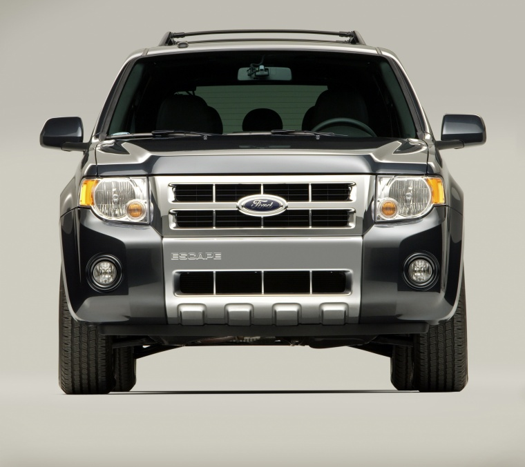 2012 Ford Escape Limited in Black from a frontal view