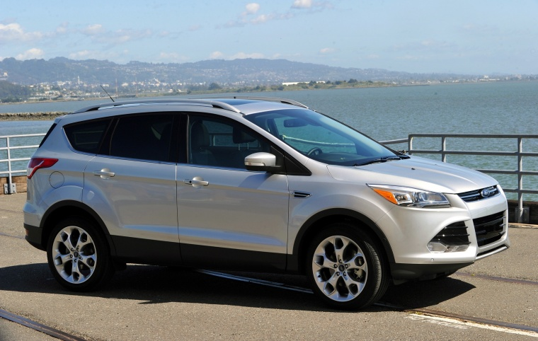 2013 ford escape titanium 4wd in ingot silver metallic color static front right three. Black Bedroom Furniture Sets. Home Design Ideas