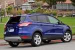 Picture of a 2014 Ford Escape SE in Deep Impact Blue from a rear right three-quarter perspective