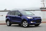 Picture of a 2014 Ford Escape SE in Deep Impact Blue from a front right three-quarter perspective