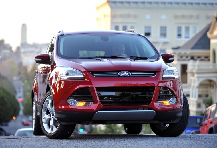 2015 Ford Escape Titanium 4WD in Ruby Red Tinted Clearcoat from a frontal view