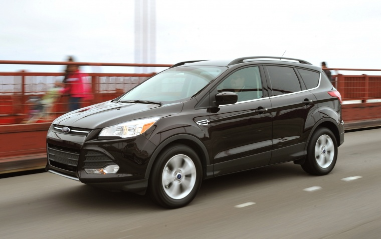 2015 ford escape in tuxedo black color driving front left three quarter view picture image. Black Bedroom Furniture Sets. Home Design Ideas