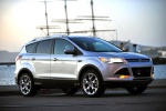 Picture of a 2015 Ford Escape Titanium 4WD in Ingot Silver Metallic from a front right three-quarter perspective