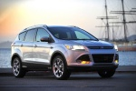 Picture of a 2015 Ford Escape Titanium 4WD in Ingot Silver Metallic from a front right perspective