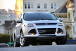 Picture of a 2015 Ford Escape Titanium 4WD in Ingot Silver Metallic from a frontal perspective