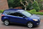 Picture of a 2015 Ford Escape SE in Deep Impact Blue from a front right three-quarter top perspective