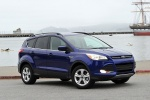 Picture of a 2015 Ford Escape SE in Deep Impact Blue from a front right three-quarter perspective